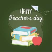 composizione dei materiali scolastici per la giornata dell'insegnante vettore
