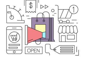 Elementi di vettore minimal lineare shopping online