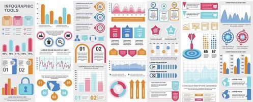 infografica, ui, ux, pacchetto di elementi del kit vettore