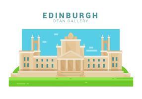 galleria di Dean di Edimburgo illustrazione vettoriale