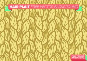 Intrecciatura dei capelli Sfondo vettoriale gratuito