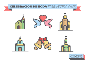 Celebracion de Boda Vector Pack gratuito