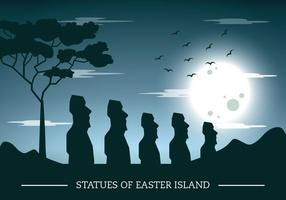 Silhouette dell'isola di Pasqua