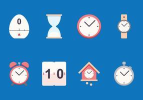 Icona piatta del timer vettore
