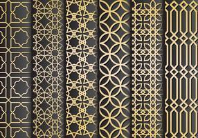 Vettore nero e oro degli ornamenti islamici