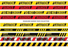 Insieme di vettore dei nastri senza cuciture del pericolo e di cautela