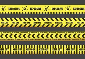 Illustrazioni del nastro di avvertimento vettore