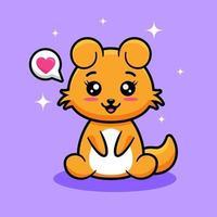 simpatico cartone animato animale vettore