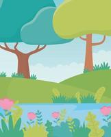 cartone animato paesaggio di sfondo