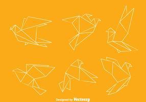 Vettori di piccione di origami