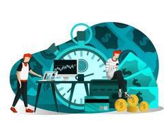 illustrazione del tempo è denaro vettore