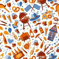 Oktoberfest seamless pattern di superficie