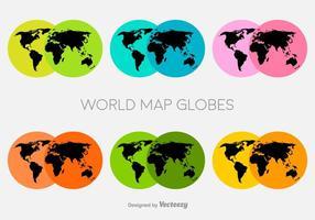 Icone di mappa mondo colorato vettoriale