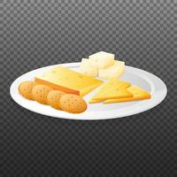 piatto di formaggi su sfondo trasparente
