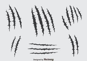 Vettore di segni di graffi