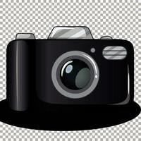 fotocamera isolata su sfondo trasparente