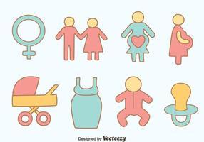 Vettori di maternità disegnati a mano