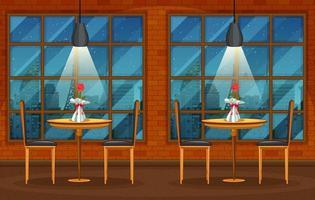 scena di sfondo di pub e ristorante