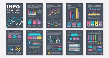 opuscoli infografici, modello di progettazione di visualizzazione dei dati vettore