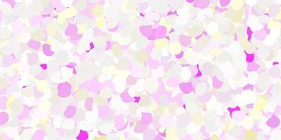 trama rosa chiaro e giallo con forme. vettore