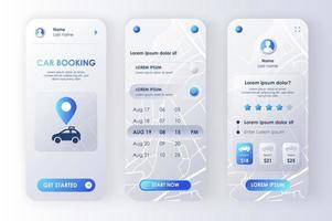 prenotazione auto, kit di design neomorfico unico