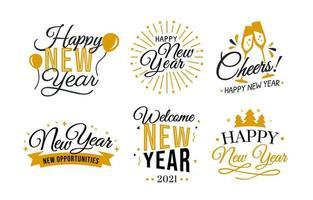 auguri di calligrafia di felice anno nuovo