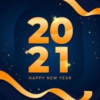 Auguri di felice anno nuovo 2021 vettore