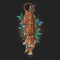 grafica tigre arrabbiata