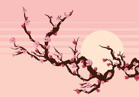 Vettore del ramo del fiore della pesca