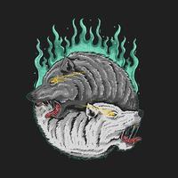 grafica twin wolf