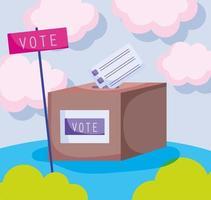 urne di voto vettore