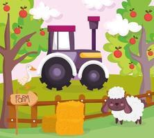 simpatici animali in una fattoria