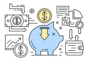Elementi di vettore lineare di finanza e bancari