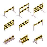 set di barriere isometriche in costruzione