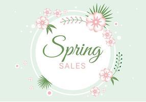 Fondo di vettore di vendita di stagione primavera gratis