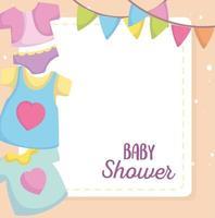 modello di carta di baby shower vettore