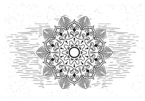 Illustrazione di Mandala Vector Flower gratis