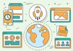 Illustrazione di media digitali vettoriali gratis