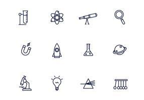 Icone di scienza vettore