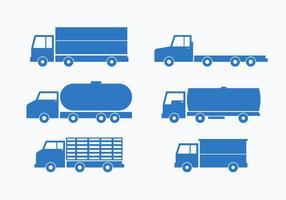 Set di raccolta vettoriale blu Camion