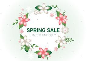 Sfondo vettoriale di vendita primavera libera