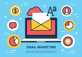 Elementi di vettore di marketing e-mail gratis