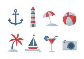 Icone vettoriali gratis spiaggia