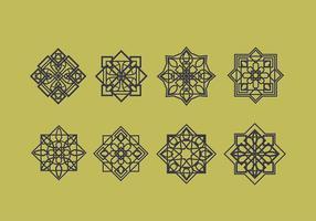 Decorazione di vettore di ornamenti islamici