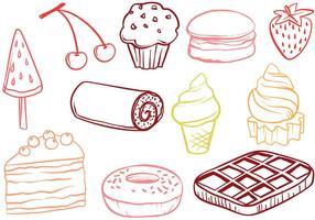 Vettori di dessert gratis