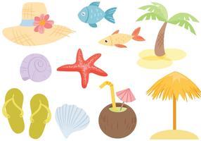 Vettori di mare spiaggia gratis