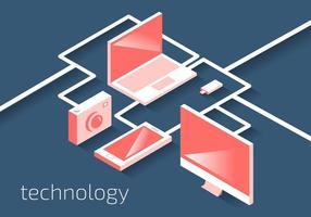 Vettore degli elementi di tecnologia