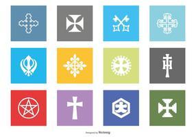 Collezione di icone vettoriali religiosi