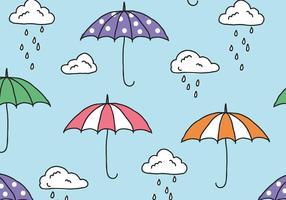 Pattern di monsone piovoso vettore