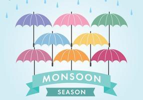 La stagione dei monsoni vettore
